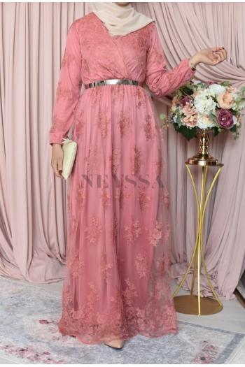 Robe Bianca Célébration bois de rose