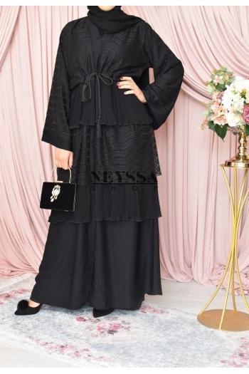Abaya Dubaï Lawrah mauve