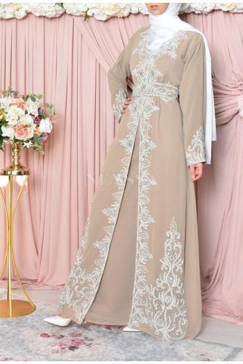 Abaya de soirée Dhelia Nude