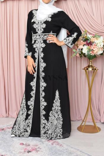 evening abaya Dhelia Black