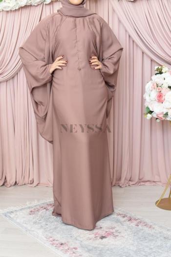 Abaya Dubaï Rowaydâa Silver