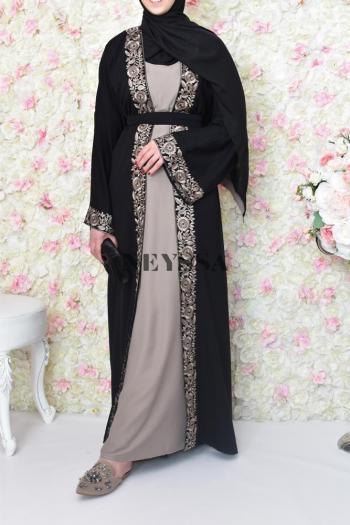 Abaya Dubai 2en1 khâdija