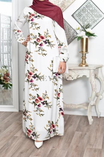 Robe crêpe fleurie Hanae