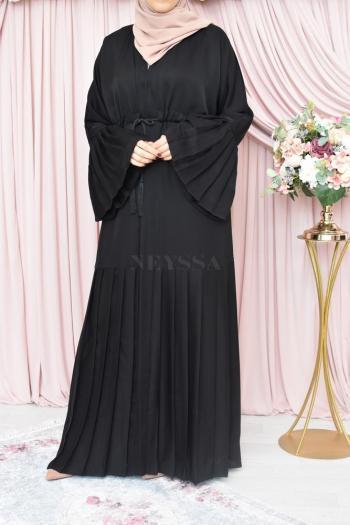 Abaya Dubaï ouverte Aïd