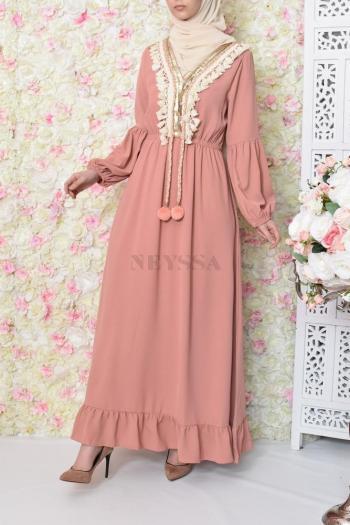 Robe Ethnic Basma Pink