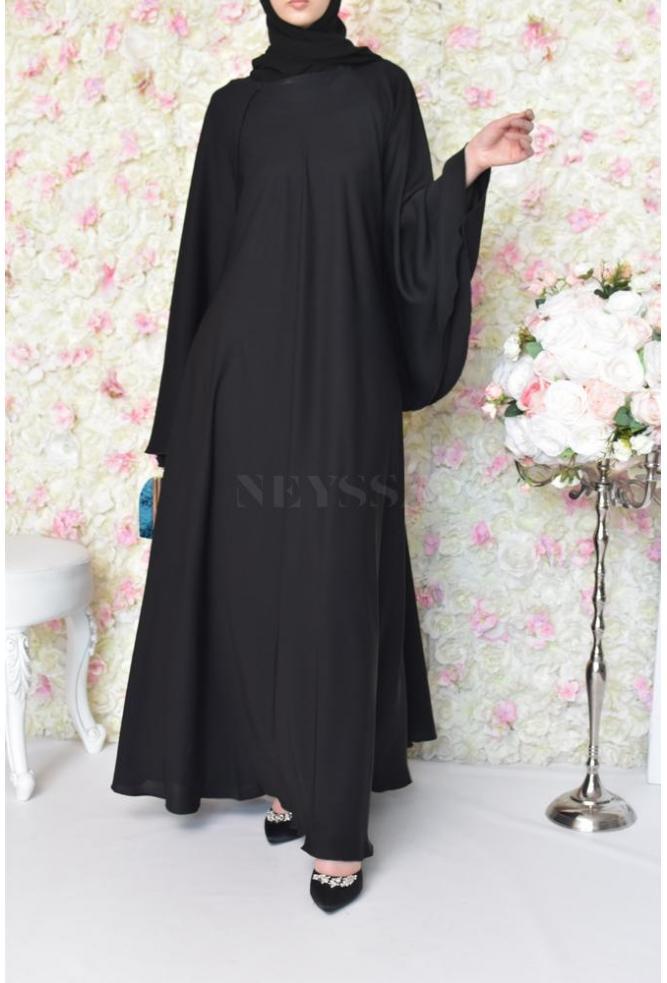 Abaya Dubaï Noir style Saoudiya