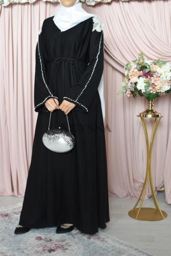 Abaya Dubaï Noir Omane