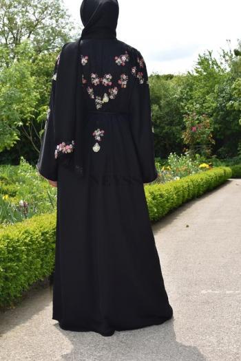 Abaya Dubaï brodée fleurie