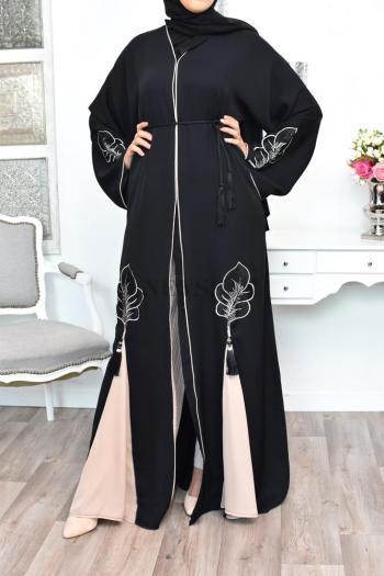 Abaya Dubai Shemsiya Dark Nude