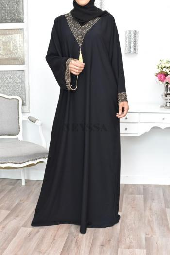 Abaya Dubaï brodée Mahdiya