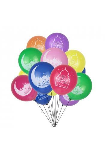 10 Ballons Eid Mubarak
