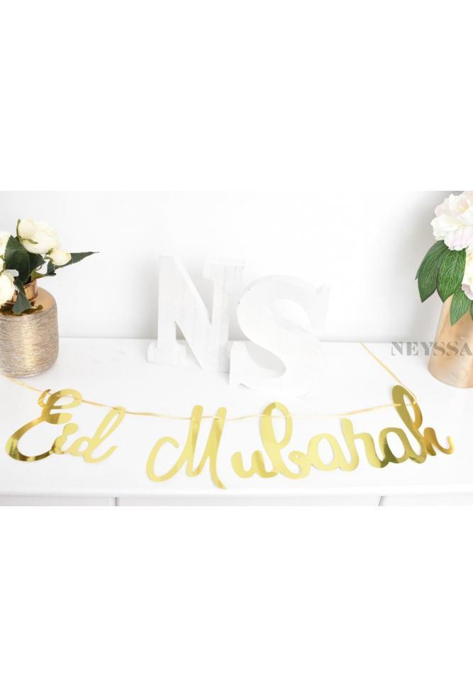 Banderole gold Eid mubarak