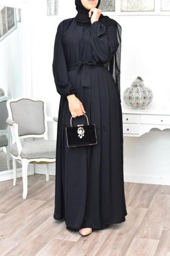 Confection Abaya Dubai 2en1 Précieuse Noir