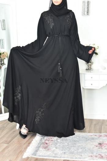 Abaya Dubaï Umbrella BLACK
