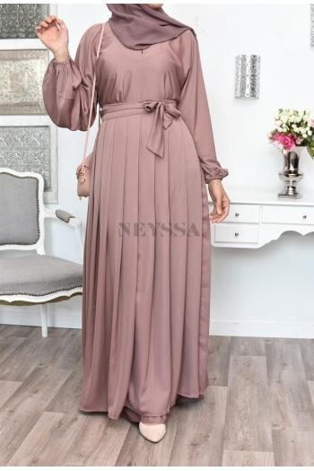 Confection Abaya Dubai 3en1 Précieuse Nude