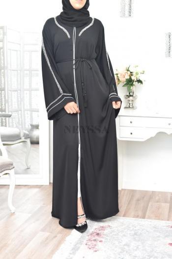 Abaya Dubaï perlée main Rawah