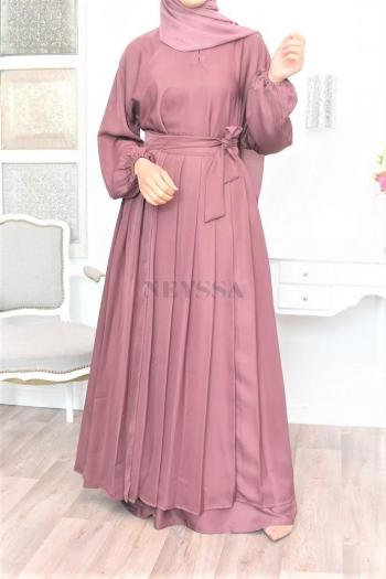 abaya dubai originale jupe intégrée