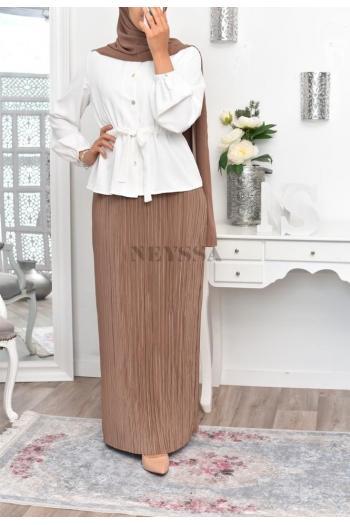 Jupe plissée Mila Glossy