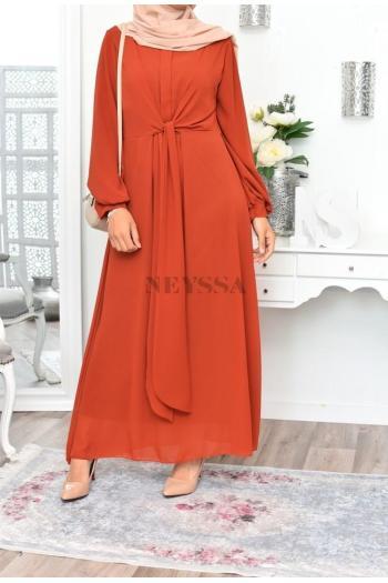 Robe longue en mousseline femme musulmane