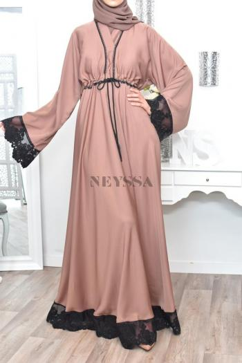 Abaya Dubaï Umbrella Kahina Nude