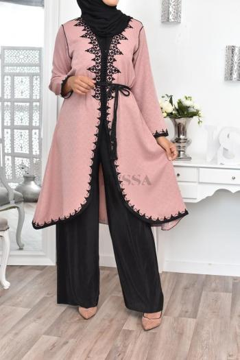 Tunique caftan Essaouira blush