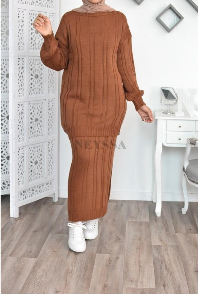Set tunic and skirt confort