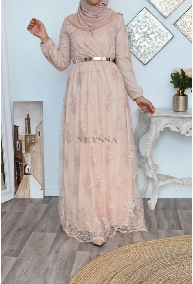 """Maxi Dress """"Bianca"""" Nude"""