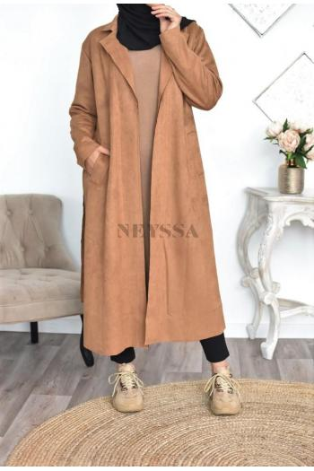 Manteau Trench Suedine