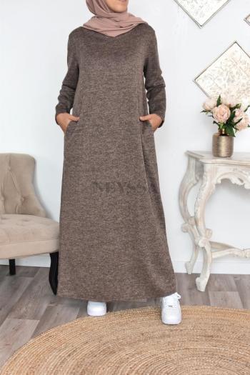 Robe pull capuche