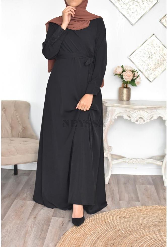 Robe croisée satinée Rawa