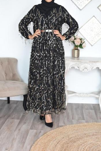 robe de soirée musulmane sequins