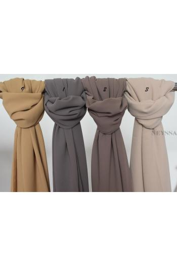 Maxi hijab carré mousseline xl