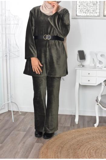 hijabi velvet set