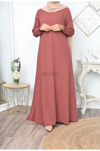 Abaya évasée femme voilée