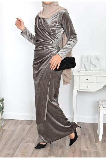 muslim dress velvet
