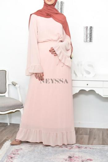 maxi flared chiffone dress