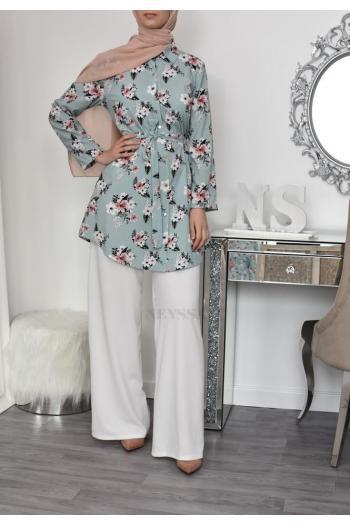 Tunic Flowers hijabi