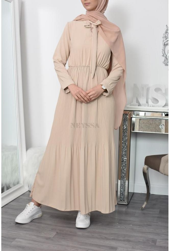 Robe plissée estivale musulmane