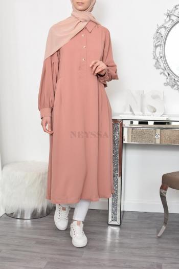 tunique longue femme voilée