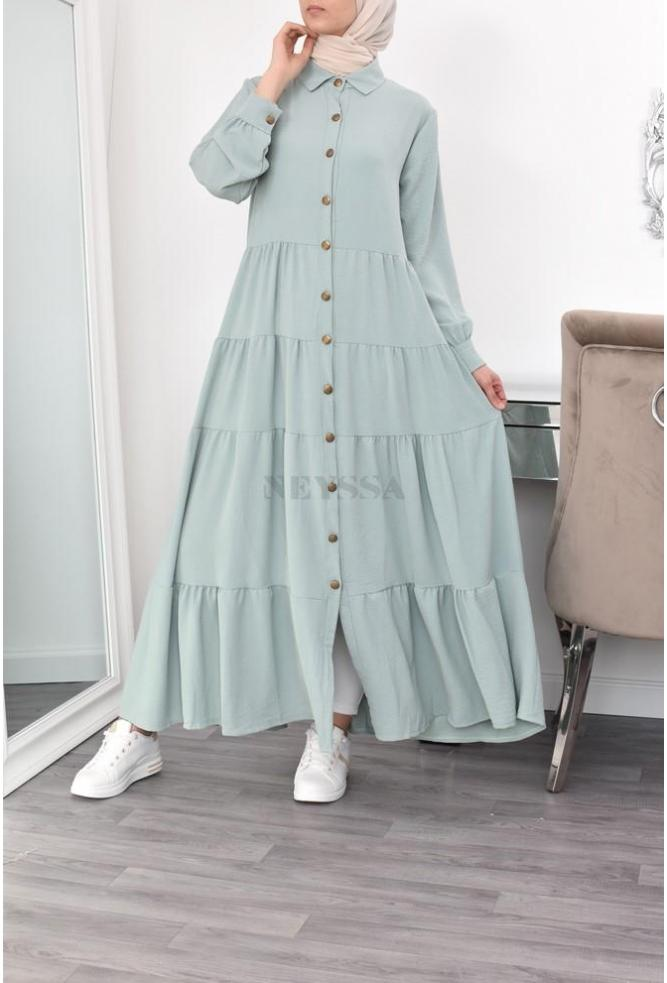 Flared modest dress