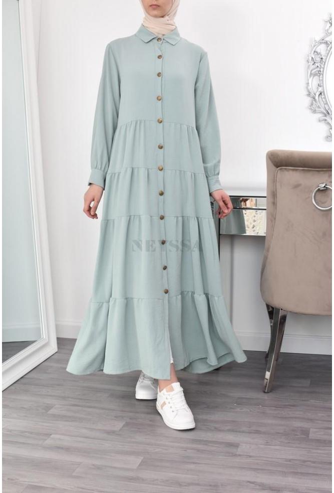 Flared modest dress