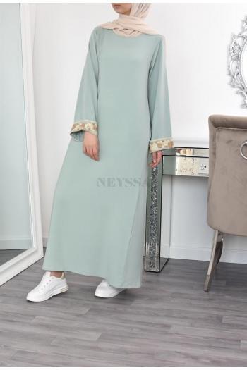 Abaya lace Fowers ramadan