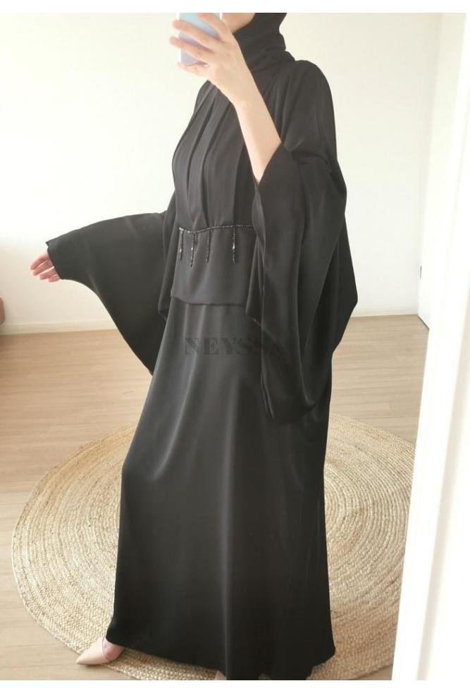 Abaya Dubaï SAKYNA Noire