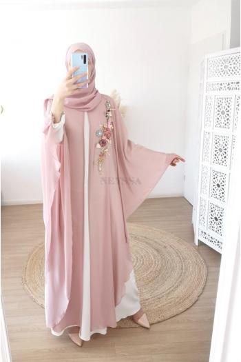 Combo Dubaï abaya pink store