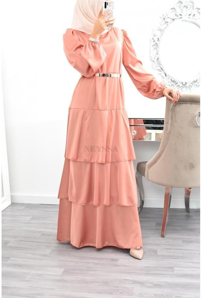 Flared Satin dress