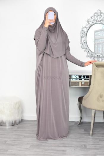 Abaya de prière hijab intégré