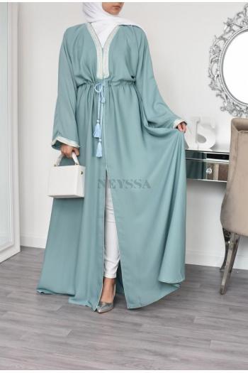 Abaya Dubaï inspiration Maroc Vert