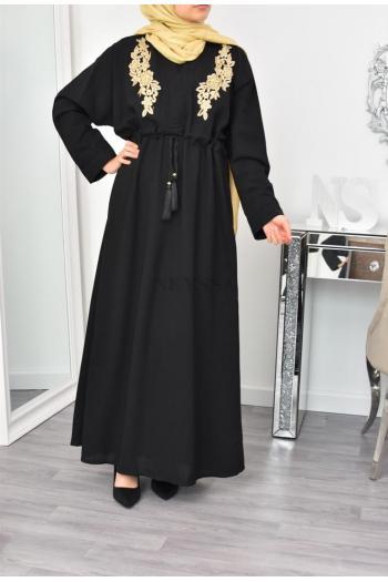 Robe abaya mastoura broderie