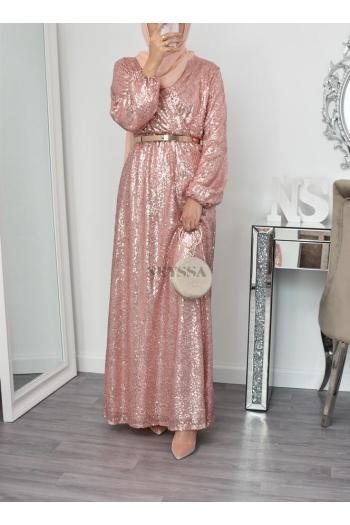 Robe de soirée Neylâa Rose