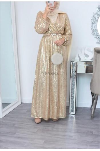 Robe de soirée Neylâa dorée